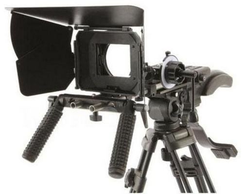 RL-2 Shoulder Mount Follow Focus Matte Box for DSLR Video Cameras Canon 7d, 5d, Mark II