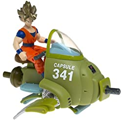 Dragon Ball Z Sky Bike 341 Vehicle With 5 S.S. Goku Action Figure (2001 Irwin)