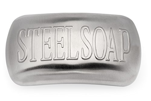 Stainless Steel Soap - The Best Odor Remover Bar and Easiest Way to Remove Smells Like Onion, Garlic, Fish, and Other Strong Scents from Hands and Skin - Just Rub Away (Fishing Stocking Stuffers compare prices)