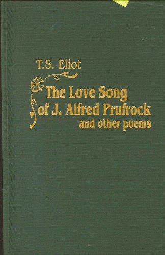 a review of ts eliots the love song of jalfred prufrock The love song of j alfred prufrock ts eliot 1920 prufrock and other observations.