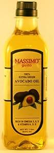 Massimo Gusto Extra Virgin Avocado Oil, 1 Liter Bottles (Pack of 2)