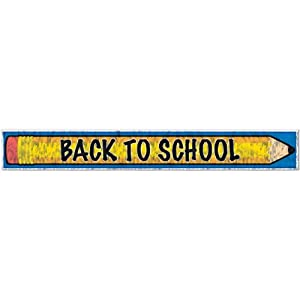 Beistle 57302 Metallic Back To School Fringe Banner, 8 by 5-Feet by The Beistle Company
