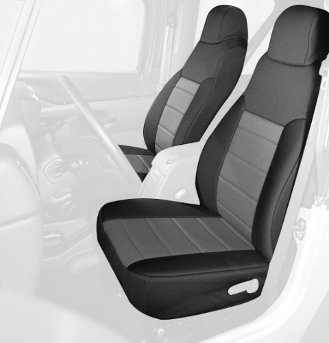 Rugged Ridge 13213.09 Black & Grey Custom Neoprene Front Seat Cover - Pair front-1025169