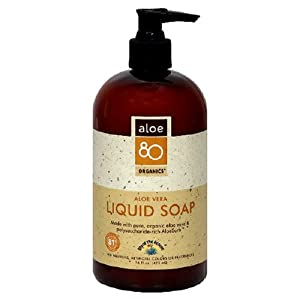 Lily of the Desert Aloe 80 Organics Liquid Soap, Aloe Vera, 16-Ounces (Pack of 3)