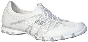 Skechers USA Active Bikers-Hot-Ticket Womens Size 7 White Leather Sneakers Shoes by Skechers USA Active