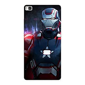 Delighted Bluish Redish Man Back Case Cover for Huawei P8