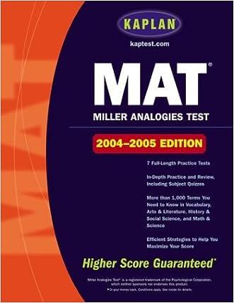Kaplan MAT: 2004-2005 Edition