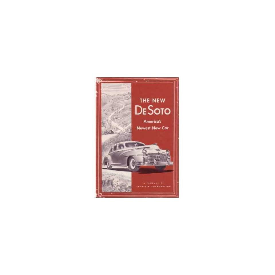 1946 Desoto Sales Brochure Literature Book Piece Advertisement Options Colors