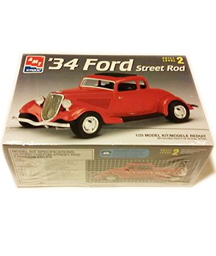 #6686 AMT/Ertl '34 Ford Street Rod 1/25th Scale Plastic Model Kit,Needs Assembly (Amt Model Car Kits compare prices)