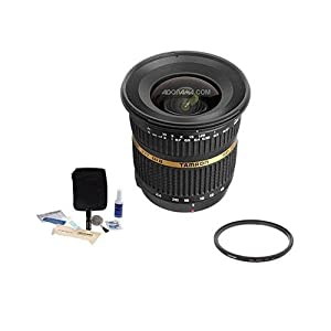 Tamron 10-24mm f/3.5-4.5 DI-II LD Aspherical (IF) AF Wide Zoom Lens Kit, for Canon EOS Digital SLR Cameras - U.S.A. Warranty with Tiffen 77mm UV Wide Angle Filter, Professional Lens Cleaning Kit