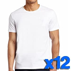 Jack & Danny's Men's Premier Plain White T Shirt - Pack of 12 White Small, Medium, Large, X Large, XX Large