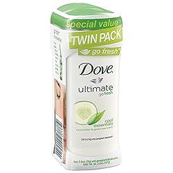 Dove Ultimate go fresh Cool Essentials, Cucumber & Green Tea Antiperspirant/Deodorant, 5.2 Ounce Twin Pack