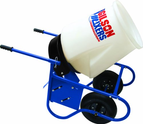 MARSHALLTOWN The Premier Line MIX5900D 3.25 Cubic Feet Wheelbarrow Concrete Mixer with Poly Drum