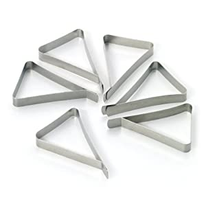 Farberware BBQ Stainless Steel Tablecloth Clamps (Set of 6)