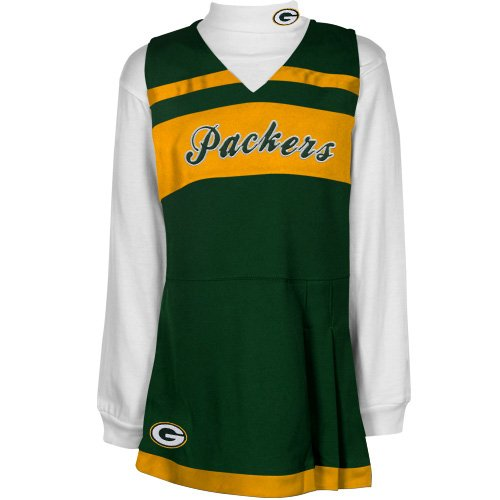 Green Bay Packers Girls 2-piece Turtleneck & Cheerleader Dress Set, Multi, 2T at Amazon.com