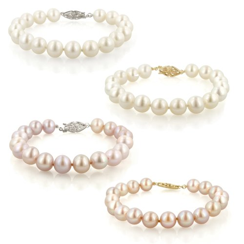 14k Gold 8.5-9mm Freshwater Cultured AA Quality Pearl Bracelet