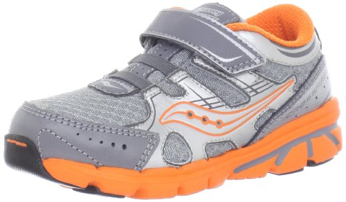 Saucony Boys Baby Crossfire A/C Running Shoe (Toddler/Little Kid),Grey/Orange,6.5 M Us Toddler front-35785