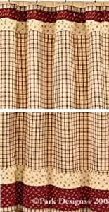 Apple jack shower curtain country primitive for Park designs bathroom accessories