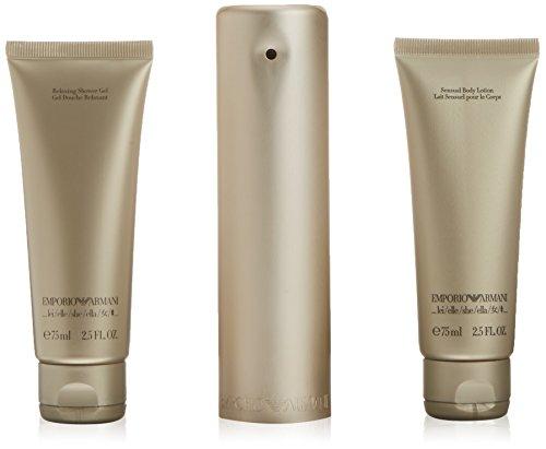 Emporio Armani Emporio - Set Eau de Parfum per Donna (100ml), Gel Doccia (75 ml) e Latte per il Corpo (75 ml)