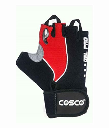 Cosco Gel Pro Fitness Gloves, Large (Black/Red)