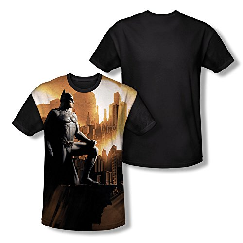 Batman Begins Superhero Action Adventure Movie My City Youth Black Back T-Shirt