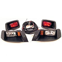 NEW EZGO TXT GOLF CART ADJUSTABLE LIGHT KIT W LED TAIL LIGHTS HALOGEN HEADLIGHTS by Cart Pro
