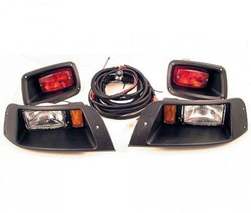 New Ezgo Txt Golf Cart Adjustable Light Kit W Led Tail Lights Halogen Headlights