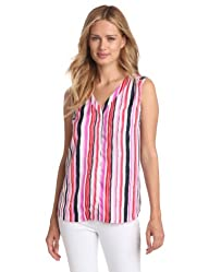 Jones New York Women's Sleeveless One Pocket Shirt