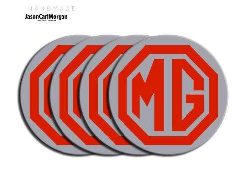 MG ZS le500style noir et argent en alliage Roue de Centre PAC Badges (clr80mm)