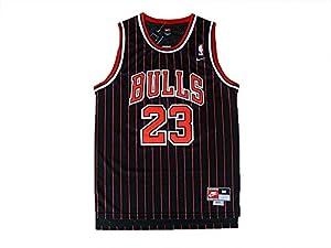 Chicago 23 Michael Jordan Throwback Basketball Jersey, Retro Basketball Jersey Michael Jordan, Vintage Black Red Stripe + FREE GIFT (Black Red Stripe, XX-Large)