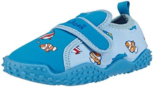 Playshoes - Aquaschuhe, Badeschuhe Fische mit höchstem UV-Schutz nach Standard 801, scarpe da mare  per bambini e ragazzi, blu(blau (original 900)), 24/25