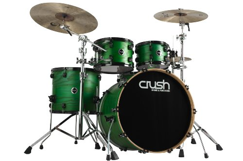 Crush Drums & Percussion C2A528-203 5-Piece Drum Shell Pack, Transparent Satin Forest Green