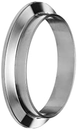 Dixon 14WMP-R250 Stainless Steel 316L Sanitary Fitting, Short Weld Clamp Ferrule, 2-1/2\