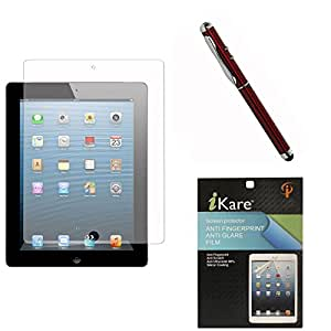 iKare Pack of 7 Anti-Glare Anti-Scratch Anti-Fingerprint Matte Screen Protector for Apple iPad Air 2 + 4in1 Laser Torch Stylus Pen