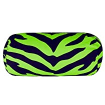 Lime Zebra Neckroll Pillow