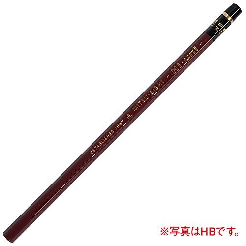 Uni Wooden Pencil, 9B, Box of 12 (HU9B)