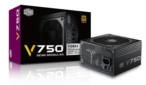 CoolerMaster 80PLUS GOLD認証 750W電源ユニット V750 Semi-Modular (型番:RS750-AMAAG1-JP)