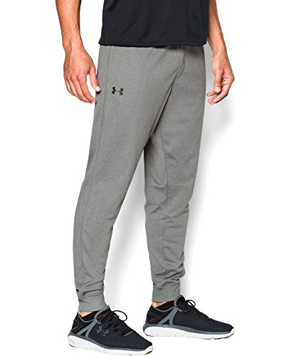 Under Armour Men's Tricot Pants - Tapered Leg, Greyhound Heather (082), Small