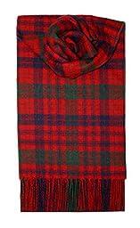 Lochcarron Red Ross Tartan Lambswool Scarf