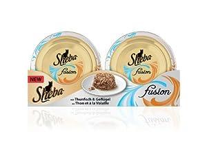 Sheba Fusion mit Thunfisch und Geflügel, 24er Pack (24 x 80 g)