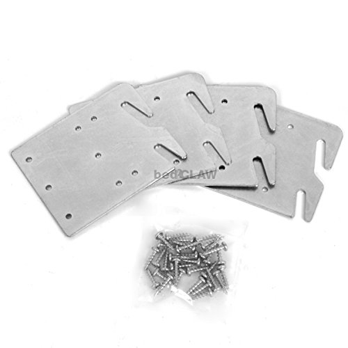 Bed claw retro hook plates for wooden rail restoration