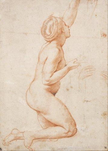 Knieende RAPHAEL eine nackte Frau