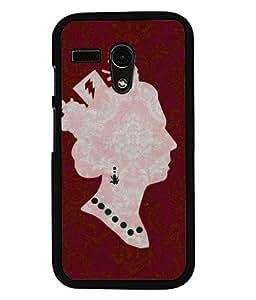 PRINTVISA The Queen Premium Metallic Insert Back Case Cover for Motorola Moto G - D6057