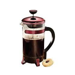 Primula Classic Coffee Press 8 cup - Metallic Red by Epoca
