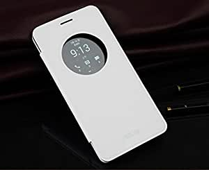 HOM Flip Case Cover For Asus Zenfone 5 With Screen Guard - White