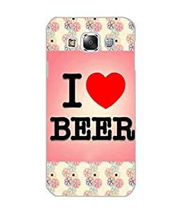 SAMSUNG GALAXY E5 I LOVE BEER Back Cover by PRINTSWAG