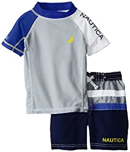 Nautica Boys 2-7 Toddler Rash-Guard Swim Set by Nautica