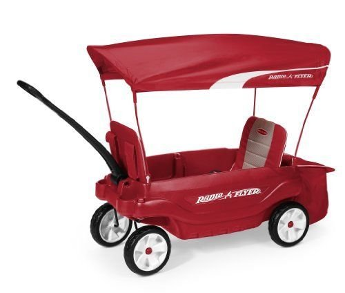 Radio Flyer the Ultimate Comfort Wagon with 2 Seats, (Red) lg easy flyer warm orbit