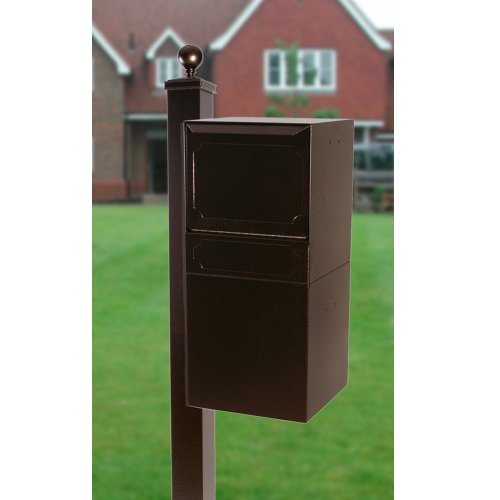 dVault Full Service Locking Mailbox, Copper Vein Post/Column Mount Delivery Vault, Box and Side Mount In-Ground Post Kit, DVU0050-SMPI-5-KIT, Copper Vein