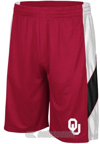 Oklahoma Sooners Crimson Courtside Shorts by Colosseum